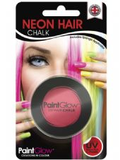 Paint Glow Neon UV Hair Chalk - Red